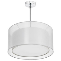 Dainolite Lighting Melissa 3 Light Chandelier in Polished Chrome  MEL228-819-790-PC