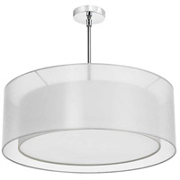 Dainolite MEL307-819-790-PC Melissa 4 Light 30 inch Polished Chrome Chandelier Ceiling Light photo thumbnail