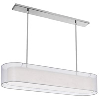 Melissa 4 Light Satin Chrome Pendant Ceiling Light
