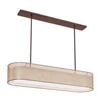 Dainolite Melissa 4 Light Pendant in Oil Brushed Bronze with Gold Lam Organza Shade MEL448-OBB-811 photo thumbnail