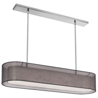 Dainolite Melissa 4 Light Pendant in Satin Chrome with Black Lam Organza Shade MEL448-SC-815