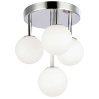 Dainolite MGL-94FH-PC Megallan 4 Light 11 inch Polished Chrome/Opal White Flush Mount Ceiling Light