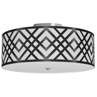 Dainolite MON-153FH-PC-BW Mona LED 15 inch Polished Chrome Flushmount Ceiling Light in Black and White