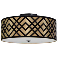 Dainolite MON-153FH-PC-GBK Mona LED 15 inch Polished Chrome Flushmount Ceiling Light