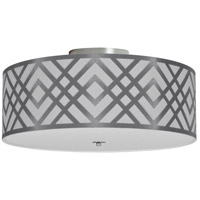 Dainolite MON-153FH-PC-SV Mona LED 15 inch Polished Chrome Flushmount Ceiling Light in Silver