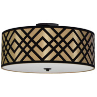 Dainolite MON-184FH-PC-GBK Mona LED 19 inch Polished Chrome Flushmount Ceiling Light in Gold and Black