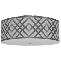 Dainolite MON-184FH-PC-SV Mona LED 19 inch Polished Chrome Flushmount Ceiling Light in Silver