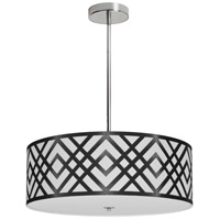Dainolite MON-194P-PC-BW Mona LED 19 inch Polished Chrome Pendant Ceiling Light