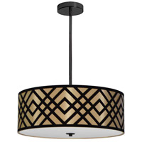 Dainolite MON-194P-PC-GBK Mona LED 19 inch Polished Chrome Pendant Ceiling Light