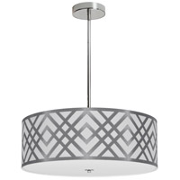 Dainolite MON-194P-PC-SV Mona LED 19 inch Polished Chrome Pendant Ceiling Light