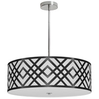 Dainolite MON-244P-PC-BW Mona LED 24 inch Polished Chrome Pendant Ceiling Light