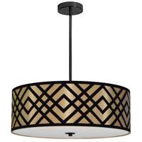 Dainolite MON-244P-PC-GBK Mona LED 24 inch Polished Chrome Pendant Ceiling Light