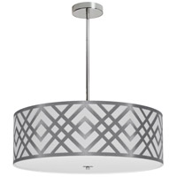 Dainolite MON-244P-PC-SV Mona LED 24 inch Polished Chrome Pendant Ceiling Light