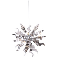 Miramar 6 Light 20 inch Polished Chrome Pendant Ceiling Light, Wavelet Ribbons
