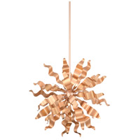 Miramar 6 Light 20 inch Rose Gold Pendant Ceiling Light, Wavelet Ribbons