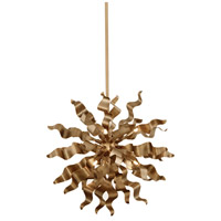 Miramar 6 Light 20 inch Vintage Bronze Pendant Ceiling Light, Wavelet Ribbons