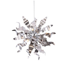 Miramar 8 Light 26 inch Polished Chrome Pendant Ceiling Light, Wavelet Ribbons