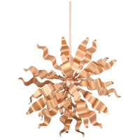 Miramar 8 Light 26 inch Rose Gold Pendant Ceiling Light, Wavelet Ribbons