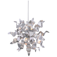 Miramar 8 Light 26 inch Silver Pendant Ceiling Light, Wavelet Ribbons
