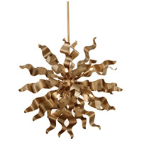 Miramar 8 Light 26 inch Vintage Bronze Pendant Ceiling Light, Wavelet Ribbons