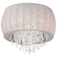 Dainolite Maya 3 Light Flush Mount in Polished Chrome with White Lycra Shade MYA-14FH-PC-900
