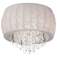Dainolite Maya 4 Light Flush Mount in Polished Chrome with White Lycra Shade MYA-19FH-PC-900