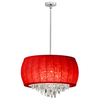 Dainolite Maya 6 Light Chandelier in Polished Chrome MYA-22C-PC-927