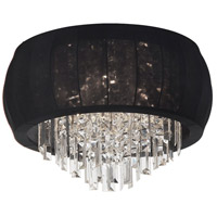 Dainolite Maya 8 Light Flush Mount in Polished Chrome with Black Lycra Shade MYA-26FH-PC-901