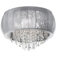 Maya 8 Light 26 inch Polished Chrome Flush Mount Ceiling Light