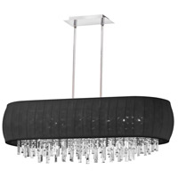 Dainolite Maya 8 Light Chandelier in Polished Chrome with Black Lycra Shade MYA-42C-PC-901