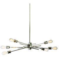 Nebraska 6 Light 16 inch Burnished Chrome Pendant Ceiling Light