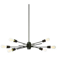 Nebraska 6 Light 16 inch Espresso Pendant Ceiling Light