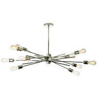 Nebraska 10 Light 17 inch Burnished Chrome Pendant Ceiling Light
