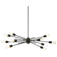 Nebraska 10 Light 17 inch Espresso Pendant Ceiling Light