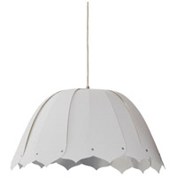 Dainolite NOA121-S-2400 Noa 1 Light 15 inch White Pendant Ceiling Light