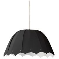 Dainolite NOA121-S-797 Noa 1 Light 15 inch Black Pendant Ceiling Light