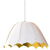 Dainolite NOA151-M-692 Noa 1 Light 21 inch White Pendant Ceiling Light