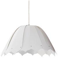 Dainolite NOA151-M-790 Noa 1 Light 21 inch White Pendant Ceiling Light