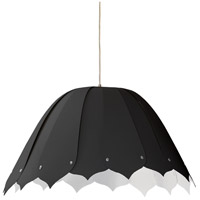 Dainolite NOA151-M-797 Noa 1 Light 21 inch Black Pendant Ceiling Light