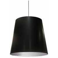 Dainolite OD-L-697 Oversized Drum LED 26 inch Black/Polished Chrome Pendant Ceiling Light in Jewel Tone Black on Silver