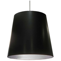 Dainolite OD-XL-697 Oversized Drum LED 32 inch Black/Polished Chrome Pendant Ceiling Light in Jewel Tone Black on Silver