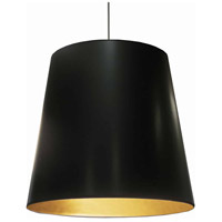 Signature 1 Light 26 inch Black and Gold Pendant Ceiling Light