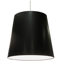 Dainolite Signature 1 Light Oversized Pendant in Polished Chrome with Black on White Shade OD-XL-712
