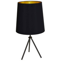 Dainolite OD3T-L-698-MB Oversized Drum 30 inch 100 watt Matte Black Table Lamp Portable Light