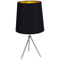 Dainolite OD3T-L-698-SC Oversized Drum 30 inch 100 watt Satin Chrome Table Lamp Portable Light
