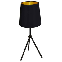 Dainolite OD3T-S-698-MB Oversized Drum 29 inch 100 watt Matte Black Table Lamp Portable Light