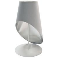 Dainolite ODS-1T-691 Slanted Drum 24 inch 60 watt White Table Lamp Portable Light