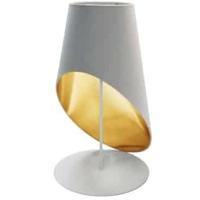 Dainolite ODS-1T-692 Slanted Drum 24 inch 60 watt White Table Lamp Portable Light