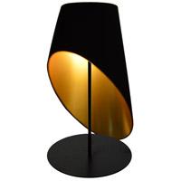 Dainolite ODS-1T-698 Slanted Drum 24 inch 60 watt Black Table Lamp Portable Light