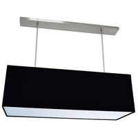 Oversized Drum LED 38 inch Black Pendant Ceiling Light, Large